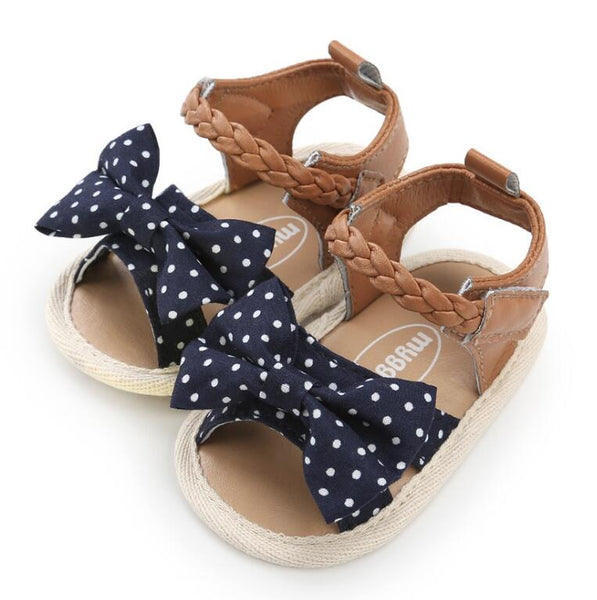 Canvas bow Soft Sole PU Baby girls First Walkers Shoes Fashion summer Prewalkers First walkers toddler moccasins Newest - thefashionique