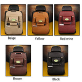 Car Seat Storage Box Leather Convenience Net Bag Phone Holder Pocket Multi Pocket Organizer Car Accessories Shopping cart seat - thefashionique