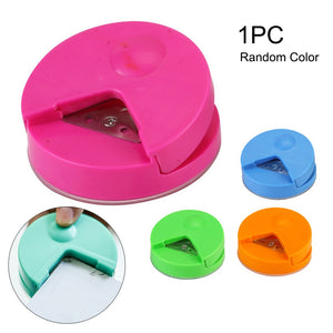 Card Photo Cutter 4mm Paper Punch R4 Corner Rounder Office School Accessories Craft Scrapbook DIY Tool Candy Color Kids Gadgets