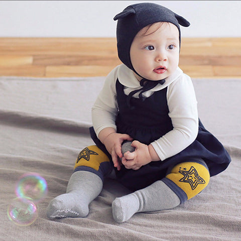 Cartoon Baby Safety Crawling Elbow Cushion Toddlers Knee Pads Protective Gear Toddlers Warm Socks