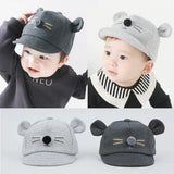 Cartoon Cat Design Baby Hat Baseball Cap Cute Cotton Baby Boys Girls Summer Sun Hat Spring Autumn Peaked Cap - thefashionique