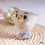 Cartoon Tea Set Beauty And The Beast Mrs Potts Teapot Chip Cup Smile Lovely Creative Xmas Birthday Gift - thefashionique