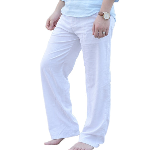 Back To Search Resultsmen's Clothing Smart Fashion Ankle-length Men Linen Pants Slim Fit Thin Casual Hemp Mens Blouse White Straight Trousers Solid Color Pencil Pant Xxxl