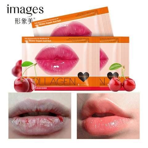 Cherry Collagen Moisturizing Lip Mask Deep Hydrating Exfoliating Anti Aging Anti Winkles Lips Care Beauty Essentials 10PCS