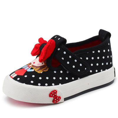 Children Flats 2018 New Spring Canvas Kids Sneakers Polka Dot Girls Princess Shoes Baby Toddler Shoes Girls Jeans Denim Shoes - thefashionique