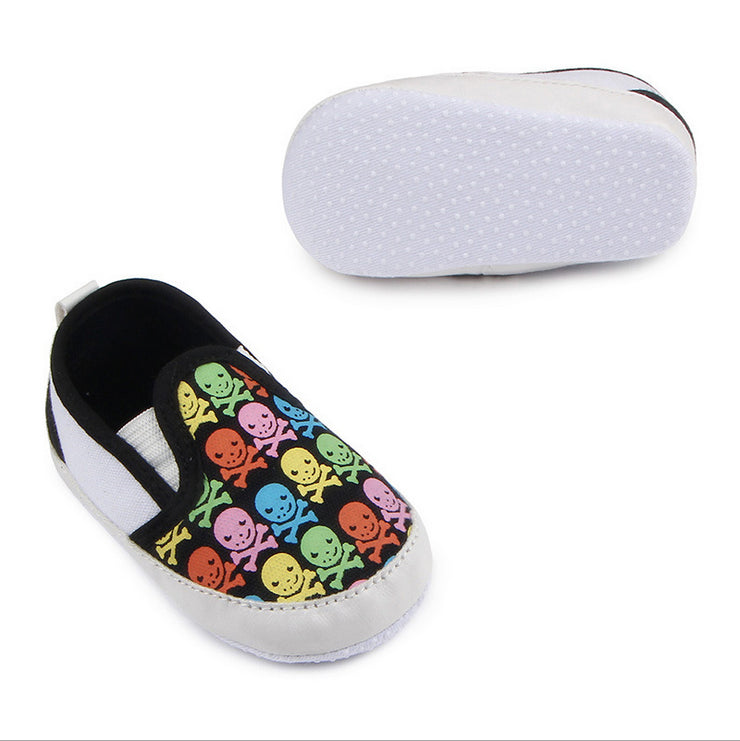 Children Kids Girls Boys Skull Shoes Non-Slip First Walkers Bebes Zapatos Ninas Newborn Infantil Flag Brand Baby Toddlers - thefashionique