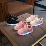Children Led Shoes With Light 2019 New Fashion Kids Shoe Luminous Glowing Sneakers Baby Toddler Boys Girls Sports Shoes - thefashionique