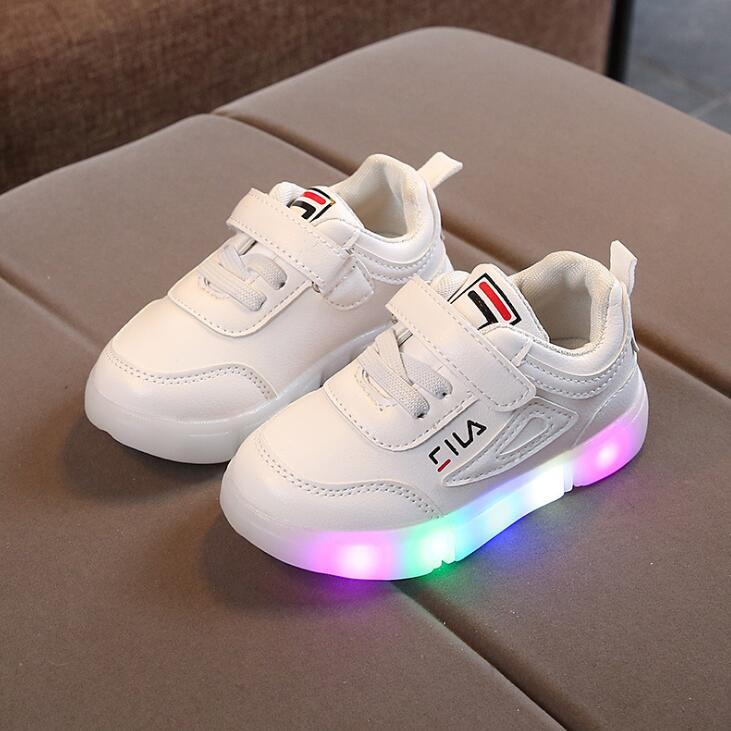 Children Led Shoes With Light 2019 New Fashion Kids Shoe Luminous Glowing  Sneakers Baby Toddler Boys Girls Sports Shoes