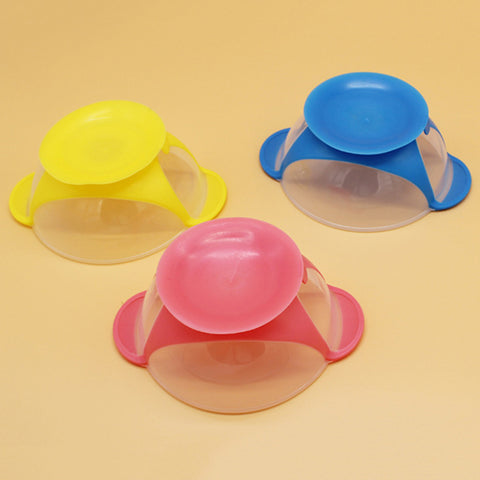 Children PP Bowl Baby Food Supplement Baby Non-slip Suction Cup Bowl Super Suction Baby Fedding Transparent Suction Cup Bowl - thefashionique