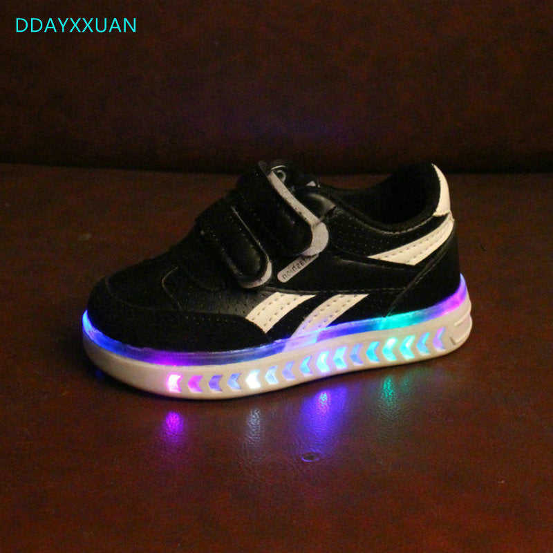 Children Shoes with Light Glowing Sneakers New Kids Led Shoes with Light Up LED Slipper Boys Girls Baby Shoes Luminous Sneakers - thefashionique