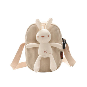 Children's bags new boys and girls shoulder bag cute bunny messenger bag baby small square handbag BW01-SB-katzxk - thefashionique