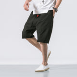 Chinese style shorts men summer cotton linen casual elastic retro shorts knee Length loose male shorts 2018 New arrival B375-K64