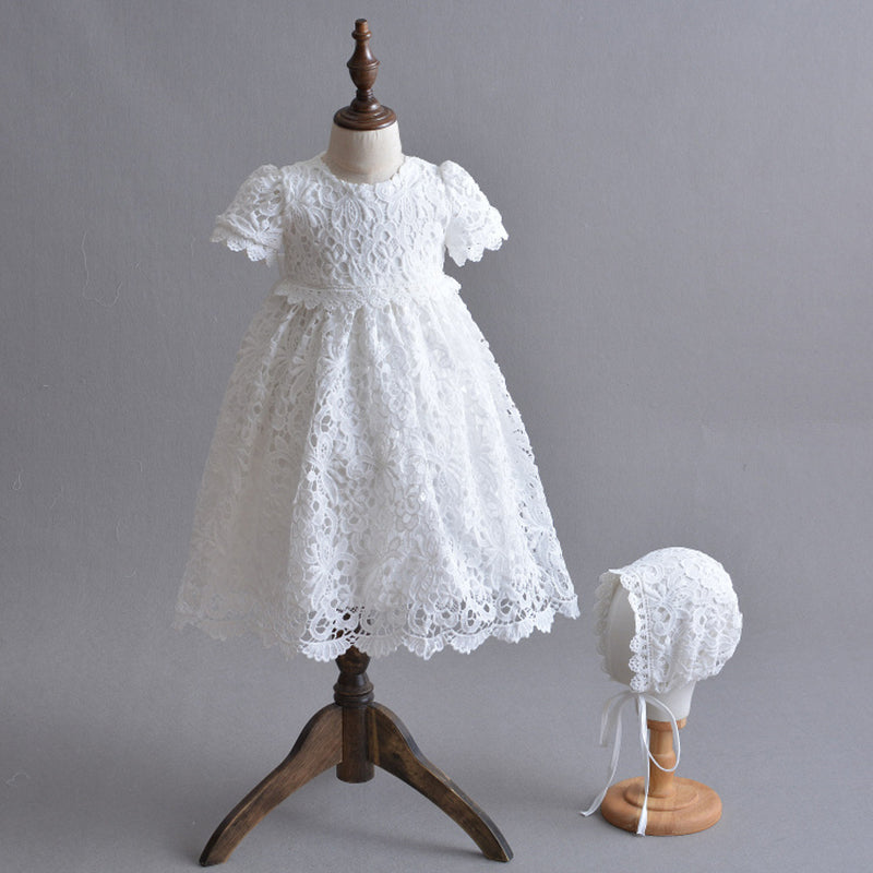 1202e955c Christening Gown Embroidered Baptism Dress with Bonnet Hat/Cape Coat Baby  Long Dress Special Occasion. prev