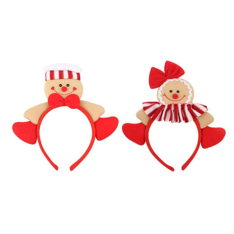 Christmas Headwear for Women Men Gingerbread Headband Home Holiday Festive Party Supplies Hairband for Christmas Decoration