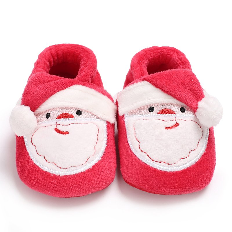 Christmas Party Toddler Infant Newborn Christmas Santa Claus Soft Sole  First Walkers Prewalkers Girl Boy Baby Shoes Hot Sale - thefashionique