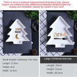 Christmas Tree Dining Ceramic Plate Hexagon Plate Ceramic Household Tableware Set Household Combination Exotic Restaurant