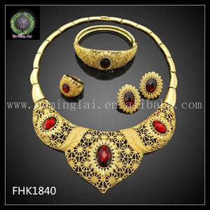 Christmas gift  2017 Dubai Gold Color Plated Elegant jewelry sets & more FHK2912 - thefashionique