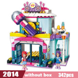 City Girls Princess KTV Star Dream Stage Building Blocks Sets Bricks Model Kids Classic Compatible Brand Block Friends