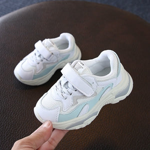 Claladoudou 13.5-15.5CM PU Leather+Mesh Girl Fashion Sneakers Toddler Brand Breathable Children Boy Girl Casual Shoe Trainer - thefashionique