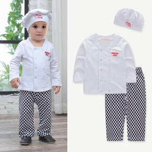 Classic Baby Chef Cosplay 3-piece T-Shirt Set /Children's Clothes 3086