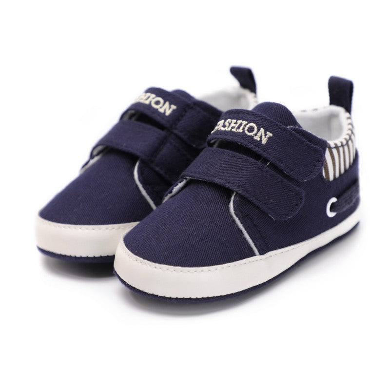 Classic Casual Baby Shoes Toddler Newborn Striped Canvas Baby Boy Shoes Leisure First Walkers Baby Girls Shoes - thefashionique