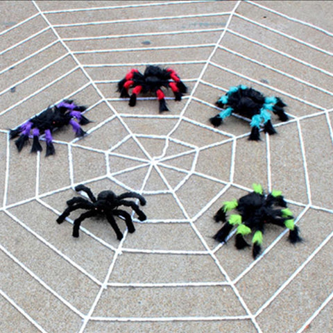 Cobweb Decor Halloween Giant Spiders Web Haunted House Party Decoration Festive Party Supplies