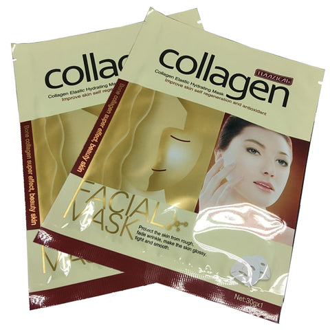 Collagen Essence Whole Face Sheet Mask for Moisturizing Whitening Skin Care Treatment Anti-aging Masks 1PCS Free Shipping - thefashionique