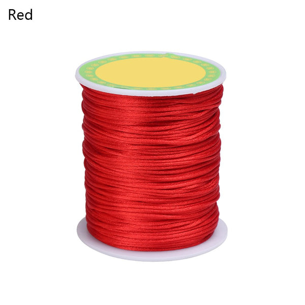 Colorful 80 Meters Satin Silk Rope Nylon Cord For Baby Teether Accessories Teething Necklace Rattail Cord DIY Tool 1.5mm - thefashionique