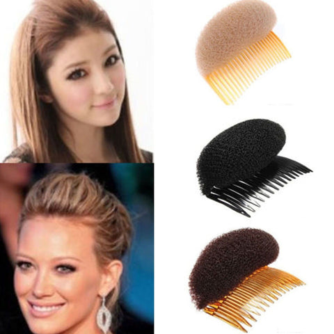 Comb Hair Brush Pro Hair Puff Paste Heightening Princess Hairstyle Device Hair Hase Accessories Heighten Sponge Hair Make Pad - thefashionique