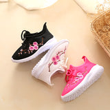 Comfy Kids Shoes 2018 new Fashion girls sneakers floral embroidery sport sneakers children ultra-light comfortable  shoes - thefashionique