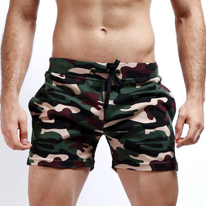 Cotton Loose Running Workout Shorts Men Gym Fitness Parkour Training Sport Shorts Breathable Sweat Camouflage Leisure Shorts Man