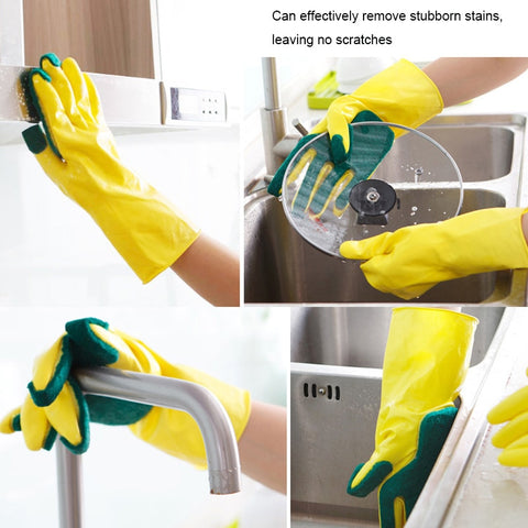 Creative Home Washing Cleaning Gloves Garden Kitchen Dish Sponge Fingers Rubber Household Cleaning Gloves Dishwashing - thefashionique