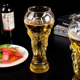 Creative World Cup Design Crystal Glass Cup Beer Water Mug Barware Party Football Cheer Beer Cup 450ml New - thefashionique