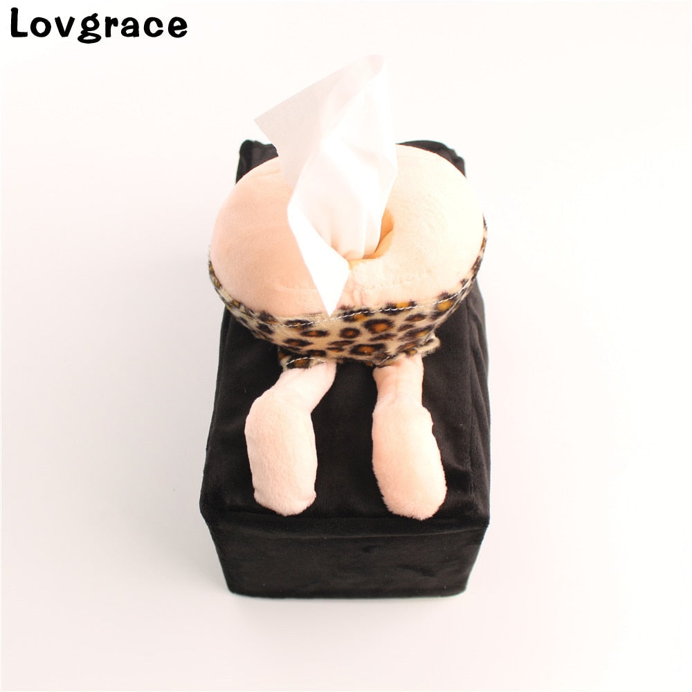 Creative ass towel sets Bathroom Car Room Napkin holder Paper towel holder kleenex box - thefashionique