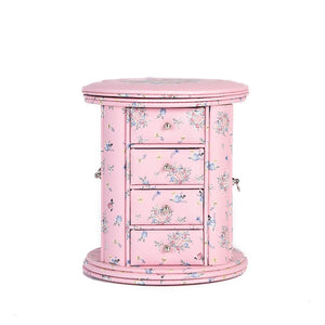 Creative home jewelry storage box hipster floral decoration box multi-layer drawer classification box with mirror surface