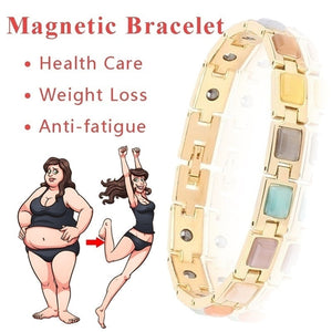 Crystal Gem Woman Magnetic Bracelet Health Energy Gold Fashion Jewelry Lady  Weight Loss Anti-fatigue Jewelry Bracelets