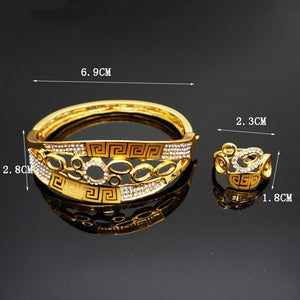 Custom new model 1 8k gold copper bangles and bracelets ring gold jewelry for women