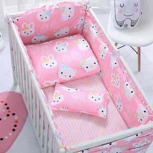 Customized Baby Bedding Kit BB Baby Cot Set Children's Bed Set 3/6/7/12pcs Sheets Quilt Bedding Pure Cotton Free Shipping - thefashionique