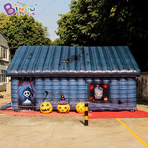 Customized Halloween inflatable terrify haunted house 4x6x3.4m for party game decoration