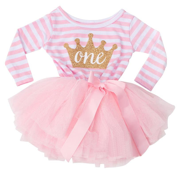 Cute Baby Autumn Winter Cotton Clothing 1 year 1st Birthday Party Dress Girls Princess Infantil Vestidos Baptism Christmas Dress - thefashionique