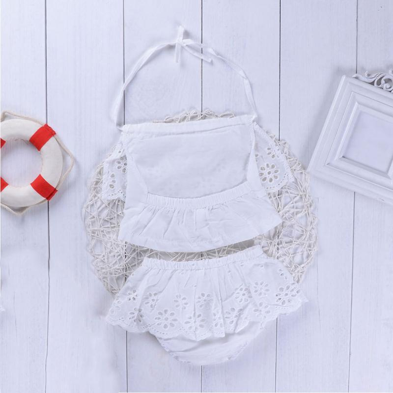 Cute Baby Girl White Lace  Sleeve Lace Jumpsuit Clothes Sunsuit Outfits - thefashionique