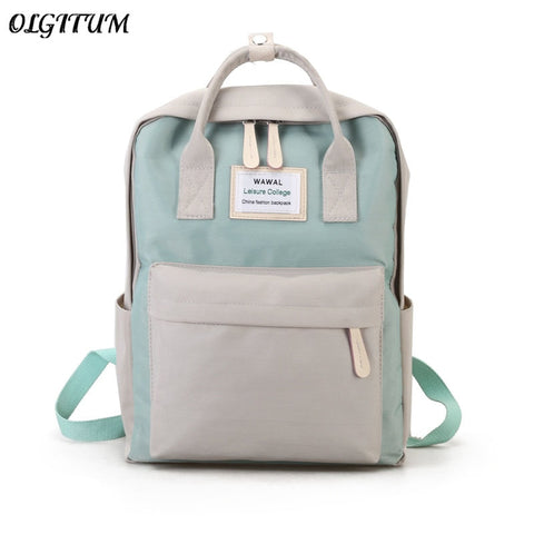Cute Canvas fashion Backpack female backpack design for girls leisure travel school simple personality luggage - thefashionique