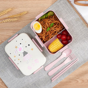 Cute Cartoon Lunch Box Microwave Dinnerware Food Storage Container Children Kids School Office Portable Bento Box