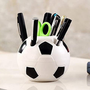 Cute Kawaii Football Pen Holder Kid Stationery Pencil Organizer Desk Set Accessory Office School Round Container Desktop Box#Y30