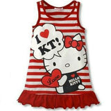 Cute Minnie Hello Kitty Dress Sleeveless Baby Girl Summer Dress children clothing Dress For Girls Christmas New Year Costume - thefashionique