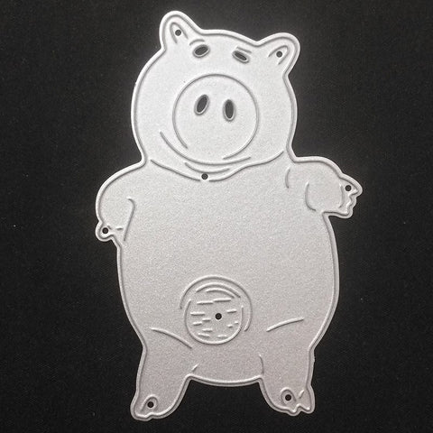 Cute pig Metal Cutting Dies Stencil DIY Scrapbooking Photo Album Decor Embossing Cards Making DIY Crafts - thefashionique