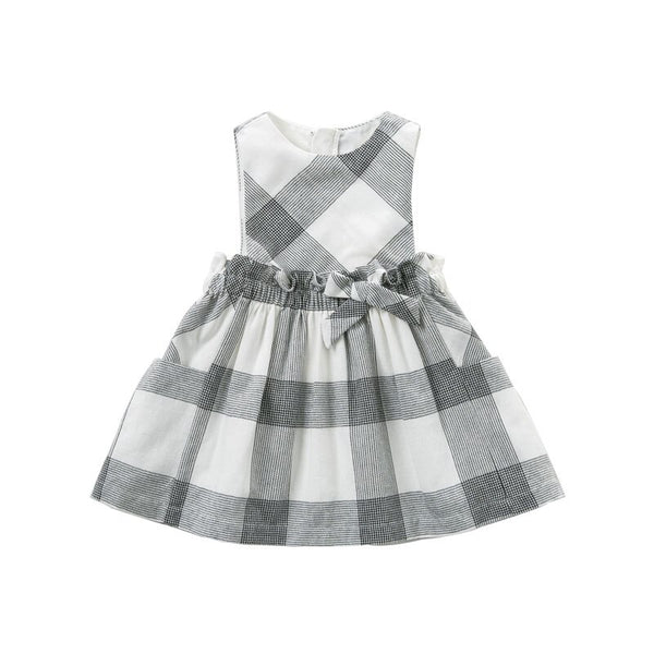DB10481 dave bella baby girls Dress sleeveless spring dresses kids girls dress children birthday party boutique  plaid dress - thefashionique