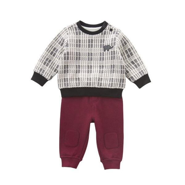 DB5596 dave bella autumn infant boys fashion clothing sets baby plaid suit children suit high toddler outfits Clothing Suits - thefashionique