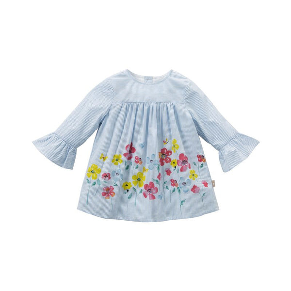 DB9943 dave bella baby girls floral Dress  long sleeves spring dresses kids girls dress children birthday party boutique dress - thefashionique