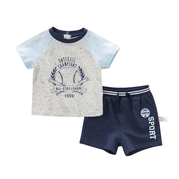 DBA6400 dave bella summer baby boy's fashion clothing sets children infant toddler suit kid's high quality clothes - thefashionique